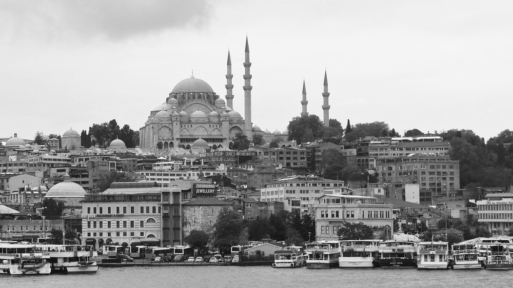 Blue Mosque along the banks of the Bosphorus Istanbul